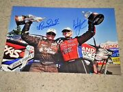 Courtney Force And Erica Enders Nhra Driivers Signed 12x18 Photo Coa ,