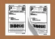 600 Half Sheet 8.5x5.5 Shipping Labels Self Adhesive For Paypal Usps Ebay
