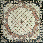 Leaves Lines Cross Stitch Decor Home Garden Pool Terrace Marble Mosaic Cr524