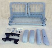1955-1956 Chevy Oem 2-door Front Bench Seat W/ Tracks Shells And Hardware Show