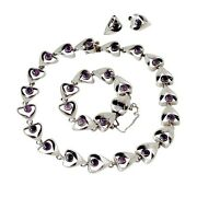 Pineda Like Rare Emma Melendez Taxco Sterling Silver And Amethyst Parure 1973 Wow