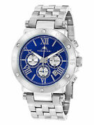 Sasha Blue And Silver-tone Dial Watch 42mm