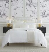 Italy Sferra Milos Cotton Sateen Duvet Cover With Classic-style Flange