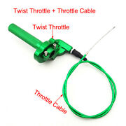 Green Cnc Twist Throttle Cable For Pit Dirt Bike 90 110 125cc 150 Thumpster Klx