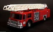 Hess 1986 Toy Fire Truck Bank Red W/ Ladder And Engine