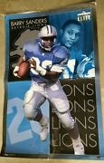 Barry Sanders Poster 1994 Costacos Brothers Elite Collection 23 X 45 Lions