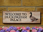 Made To Order Duck Sign Duck Pond Sign Garden Sign Funny Sign Duckingham Palace