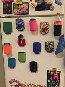60 Magnetic Can Holders Koozie Coozies Holiday Gift, Tailgate, Golf, Fridge, Bbq