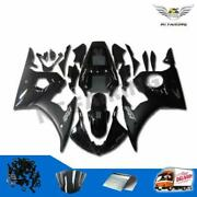 Fit For Yamaha Yzf 03-05 R6 06-09 R6s Black Injection Molded Abs Fairing Kit A26