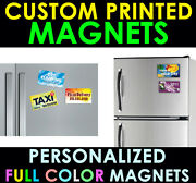 5000 Personalized Magnets Custom Printed Full Color Business Card Magnet 4x3