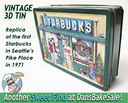 Starbucks Coffee 1999 3d Tin Replica Of 1st Store - Seattle's Pike Place In 1971