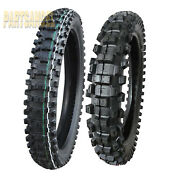 Front And Rear Tire Set 80/100-21 And 110/90-19 Motorcycle Tires