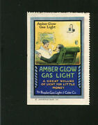 Poster Stamp Label Amber Glow Gas Light Peoples Gas And Coke  Im