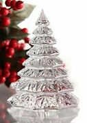 Waterford Christmas Tree Sculpture Crystal Clear 6.5 Nib Solid Heavy