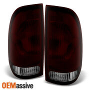 Fits 97-03 F150 99-07 Superduty Dark Red Taillights Brake Lamps Replacement Set