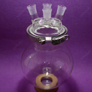 4-neck Reaction Flask24/2910000ml Separately Flaskround Bottomwith Clamp