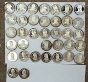 Franklin Mint 36 Silver Coin Presidents Of The U.s. Set Mint Collectible
