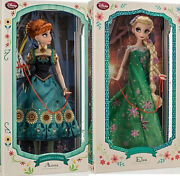 Disney 17 Limited Edition Frozen Fever Elsa And Anna Doll Le 5000