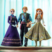 Disney Store Frozen Limited Edition Set Of 3 Elsa, Anna And Kristoff Dolls