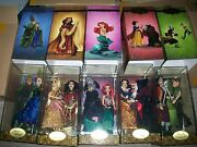 Lot All 5 Sets Disney Fairytale Designer Good And Evil Collection Dolls Le W/anna