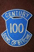Good Copy Ww2 Us Army 100th Division Sons Of Bitche Bullion Sleeve Badge Patch