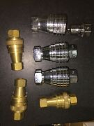 New Machine Auto Coupling Ss Hydraulic Hose Quick Fittings 1/2 Fnpt Andbrass 3/8