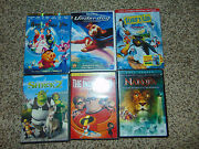 6 Incredibles/narnia/shrek 2/surfand039s Up/underdog/happily After Dvd Movie Kids Lot