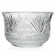 House Of Waterford Birth Of Jesus 12 Handmade Fan Flat And Diamond Crystal Bowl