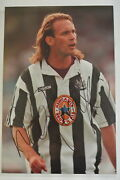 2 A 12 X 8 Inch Photo Personally Signed By Darren Peacock Of Newcastle United.