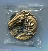 China 2014 50mm Brass Medal - New Lunar Year Of The Horse