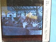 Rare Historic Gloucester Mass Slide Men Cleaning Cod Under Waterfront Shed 1912