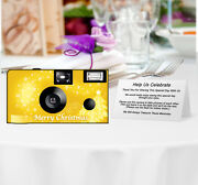10 Pack Christmas In Gold Disposable Cameras Christmas Holiday Camera F53245