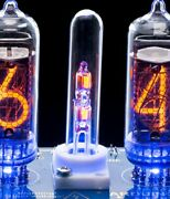 Glass Column With 2 Ne-2h Neon Lamps+holder For In-14 In-8 Nixie Tubes Clocks