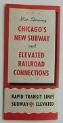Rare Chicago's New Subway And Elevated Railroad Connections Brochure 1943