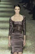 Rare Collectible Chic Tom Ford '03 Beige Silk Aso Nicole K In Cannes Dress