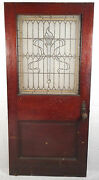 Large Vintage Victorian Stained Glass Door 2741nj