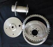 Triumph Motorcycle Vintage Rear Wheel Hub , Brake Drum , And Cover Plate