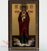 Christian Wooden Icon Of Our Lady Of Valaam Валаамская икона Б.М. 4.6 X 7.5