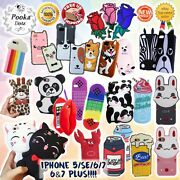 ✔cartoon✔cute✔lovely✔3d✔silicone✔design✔for Iphone 5/5s/se/6/7/8+ Case Cover Uk