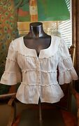 Sexy Fun Anne Fontaine Marque Deposee Ivory Jacket Sz 42 Very Stylish