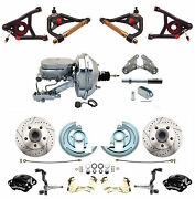 1964-1972 Deluxe Disc Brake Kit 9 Chrome Booster Wilwood Front Black Calipers