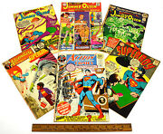 Vintage Comic Book Lot 6 Silver And Bronze Jimmy Olsen Superman Superboy Supergirl