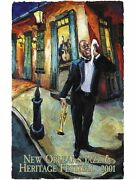 New Orleans Jazz Fest Poster 2001 Remarque Publisher Print 21/100 Mint Condition