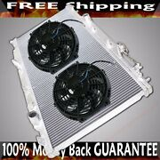 Dual Core Performance Radiator+12 Fans Fits 02-06 Acura Rsx K20 Dc5 Mt