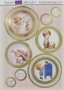 3d A4 Die Cut Topper Morehead Girl Butterfly Boy Puppy 4 Pictures No Cutting New