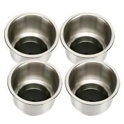4pcs Marine Boat Rv Stainless Steel Cup Drink Holders With Drain Camper -am Us