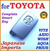 For Toyota Smart Key Vitz Prius Aqua Belta - Two Buttons - Japanese Imports