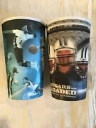 Set Of 2 Byu Plastic 3d Drinking Glasses-brigham Young-cougars--coca Cola-euc