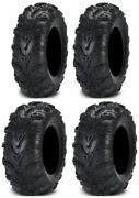 Full Set Of Itp Mud Lite Ii 6ply 27x9-12 And 27x11-12 Atv Tires 4