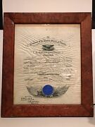 President Theodore Roosevelt Signed Naval Appointment Document December 8, 1903